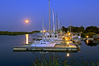 Moonrise, Owl Harbor